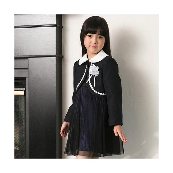 入学式 子供服 女の子 スーツ ボレロワンピース DECORA PINKY'S デコラピンキーズ 120cm・130cm 子供服 フォーマル kids-robe 03