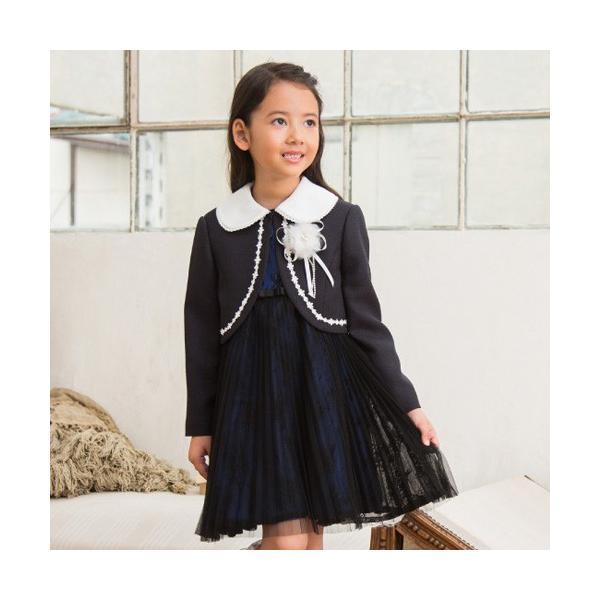 入学式 子供服 女の子 スーツ ボレロワンピース DECORA PINKY'S デコラピンキーズ 120cm・130cm 子供服 フォーマル kids-robe 05