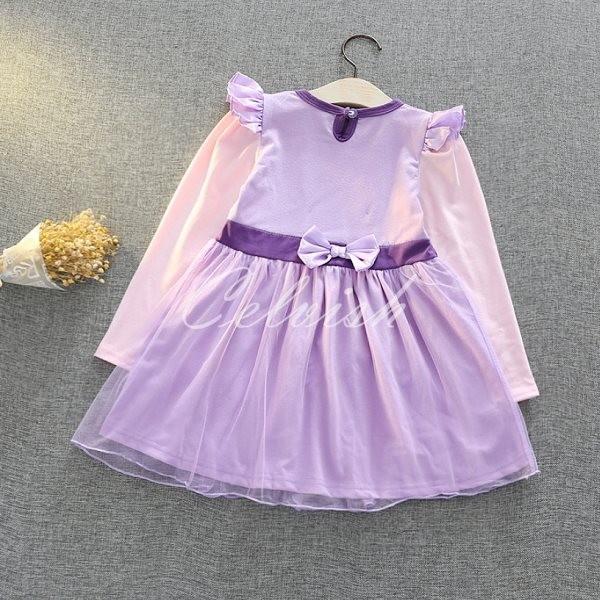 7d413fed175ee ソフィア 風 長袖 プリンセスドレス コスプレ ドレス 子供 ドレス 衣装 ...