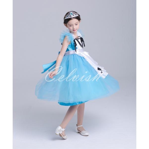 ディズニー ◇ コスプレ ドレス アリス 風 プリンセスドレス 子供 ワンピース   衣装 C-2958S991|kigurumishop|03