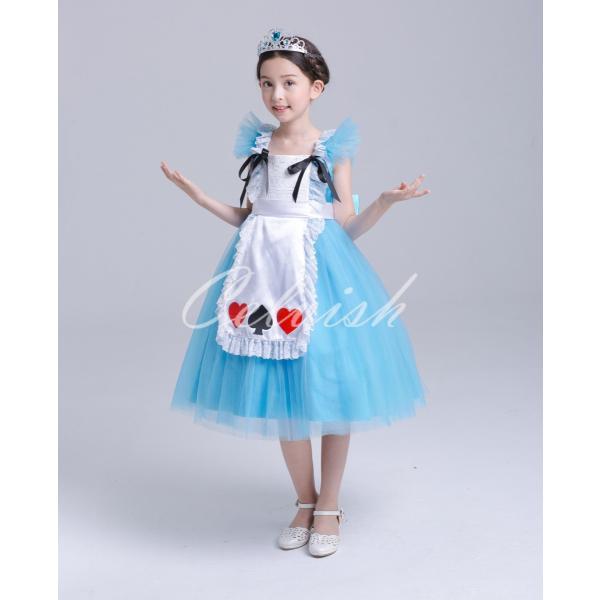 ディズニー ◇ コスプレ ドレス アリス 風 プリンセスドレス 子供 ワンピース   衣装 C-2958S991|kigurumishop|05
