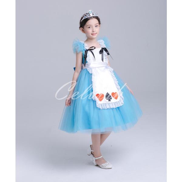 ディズニー ◇ コスプレ ドレス アリス 風 プリンセスドレス 子供 ワンピース   衣装 C-2958S991|kigurumishop|06