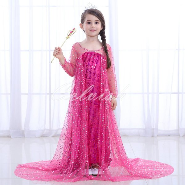 fa42b96d3a1ca ディズニー アナと雪の女王 風 アナ雪 エルサ風 プリンセスドレス 子供 ...