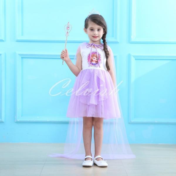 2995092bf0b79 ディズニー 小さなプリンセス ソフィア 風 プリンセスドレス 子供 衣装 ...