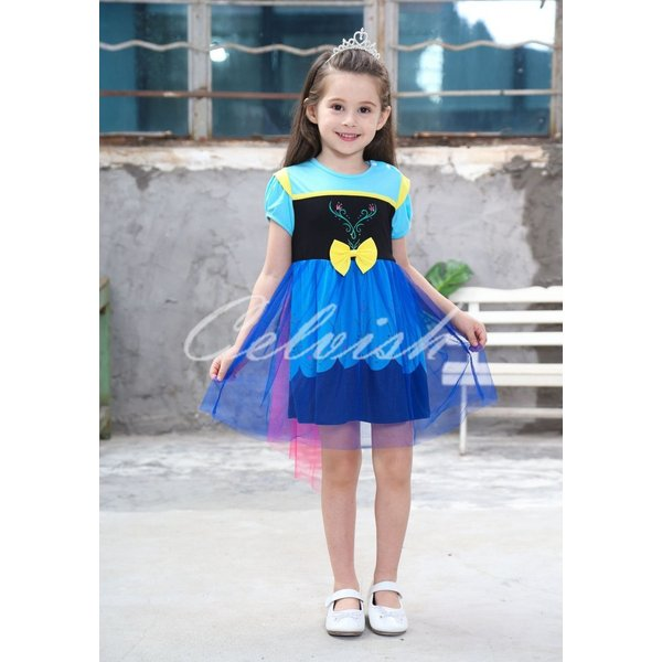 044040f3d8baa ディズニー アナと雪の女王 アナ雪 アナ 風 プリンセスドレス 子供 衣装 ...