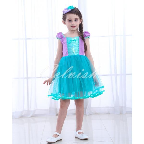 1f4892986a9e6 ディズニー アリエル 風 人魚姫 プリンセスドレス 子供 衣装 USJ C ...