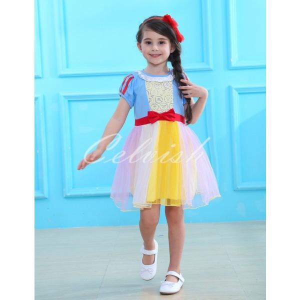 fa2413e2f0faf ディズニー スノーホワイト 白雪姫 風 プリンセスドレス 子供 衣装 USJ C ...