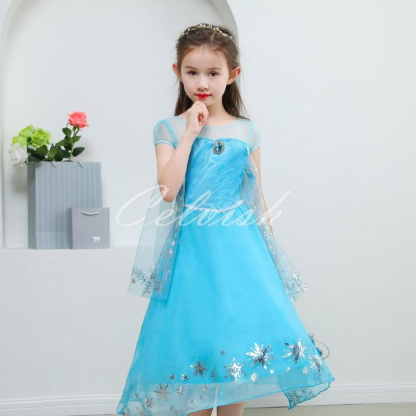58c01353506f7 ディズニー アナと雪の女王 アナ雪 エルサ 風 プリンセスドレス 子供 ...
