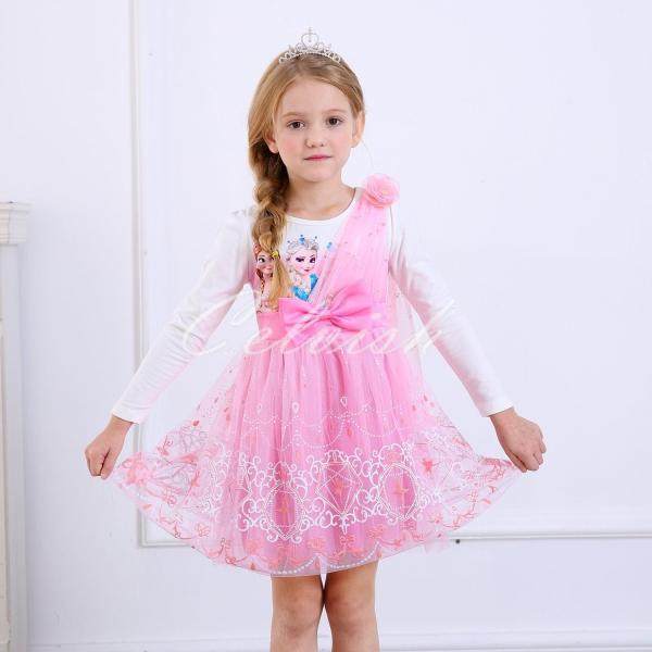caf2dfbde133e ディズニー ◇ アナと雪の女王 エルサ 風 プリンセスドレス 子供 衣装 ...