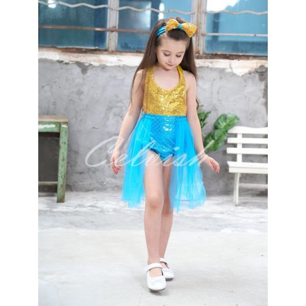 3c01242ff4cd6 ディズニー アリエル 風 プリンセスドレス 子供 衣装 人魚姫 USJ C ...