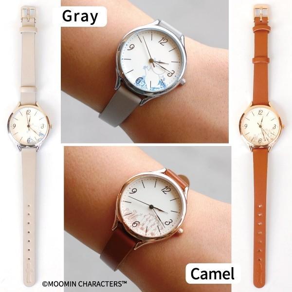 腕時計 レディース ムーミン かわいい シンプル ベーシックフェイクレザーウォッチ MOOMIN  1年間のメーカー保証付 メール便送料無料