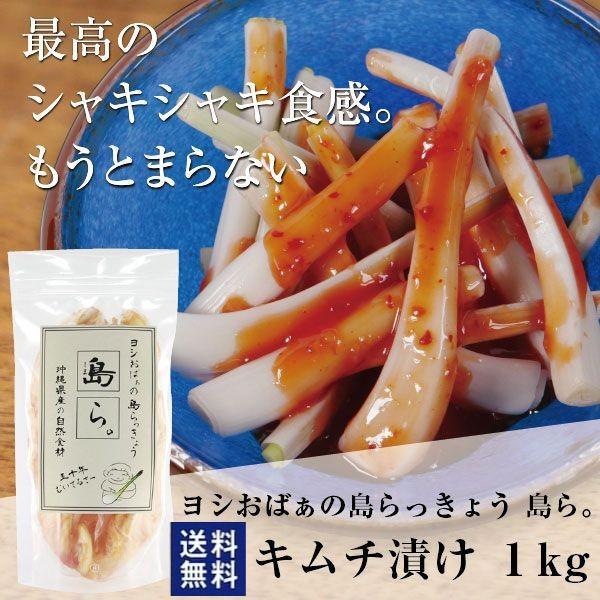 沖縄 らっきょう キムチ漬け 1kg ヨシおばぁの手作り 島ら。