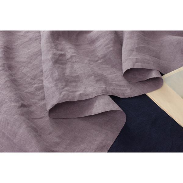 洗いをかけた 60/1番手 フレンチリネンローン ナチュラルウォッシュ加工 リネン生地 無地|kijishop-apuhouse|07