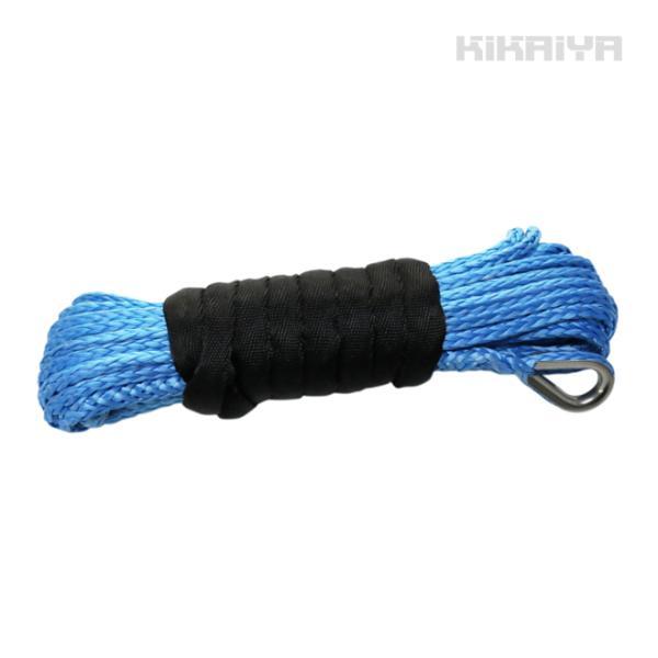 電動ウインチ12V 最大牽引能力1580kg(DC12V-6)用 シンセティックロープ 交換用 KIKAIYA|kikaiya-work-shop