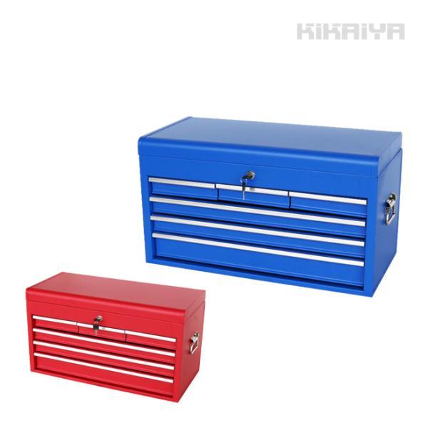 ツールチェスト4段(単色) 艶なし マットタイプ キャビネット トップチェスト 工具箱 KIKAIYA|kikaiya-work-shop