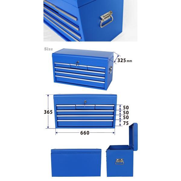 ツールチェスト4段(単色) 艶なし マットタイプ キャビネット トップチェスト 工具箱 KIKAIYA|kikaiya-work-shop|04