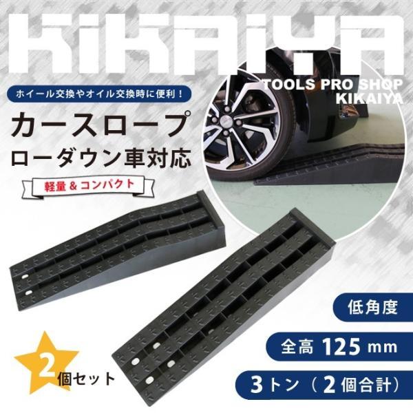 カースロープ ローダウン車対応 2個セット 軽量 コンパクト 整備用スロープ カーランプ ジャッキサポート KIKAIYA|kikaiya