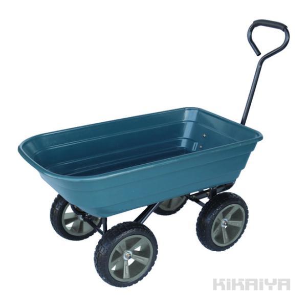 キャリーカート 大型タイヤ ノーパンクタイヤ  ダンプカート 台車 アウトドア(個人様宛は別途送料)(代引き不可)KIKAIYA