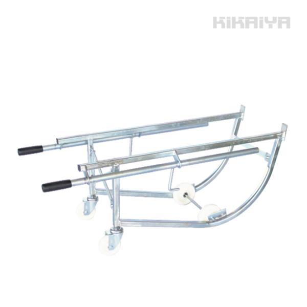 ドラム缶キャリー ドラム缶運搬車 ドラムスタンド ドラムポーター(シルバー)S型 (法人様のみ配送可)(代引不可)|kikaiya