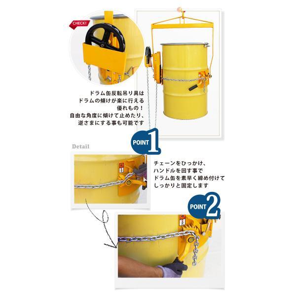 KIKAIYA ドラム缶反転吊り具/ドラム反転ハンガー ギヤ付 kikaiya 03