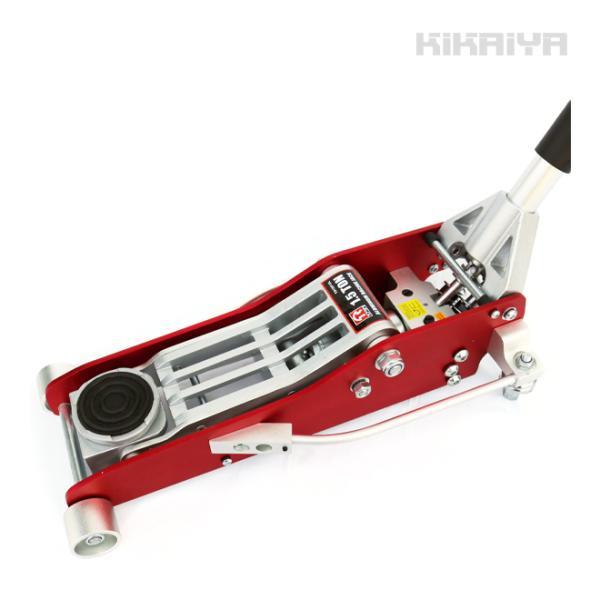 KIKAIYA アルミ製ローダウンジャッキ 1.5トン アルミジャッキ 油圧ジャッキ フロアジャッキ 油圧式 低床ガレージジャッキ 軽量タイプ 6ヶ月保証|kikaiya