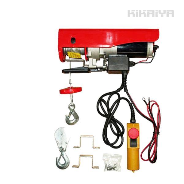 KIKAIYA 電動ウインチ 直流電動ホイスト400kg DC12V 吊り上げウインチ|kikaiya