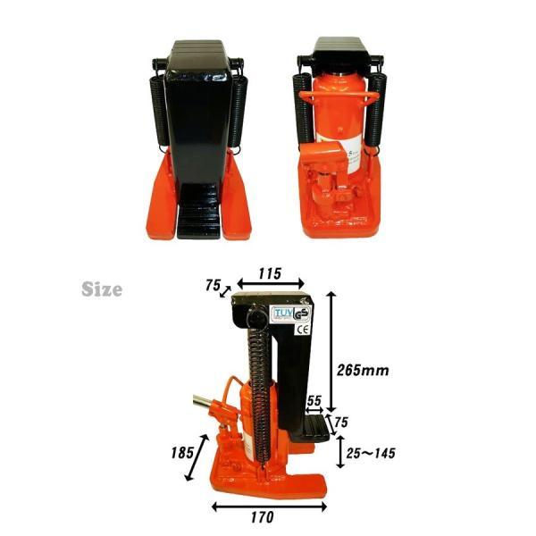 爪ジャッキ5トン 爪高さ25〜145mm 爪付ジャッキ 油圧ジャッキ 重量物用 6ヶ月保証 KIKAIYA kikaiya 03