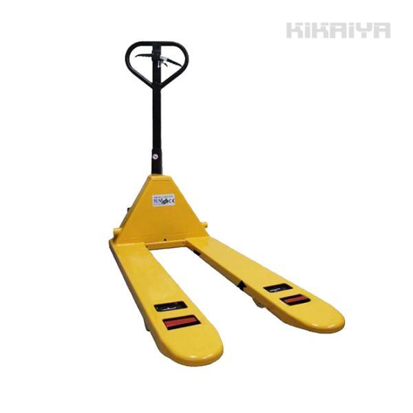 KIKAIYA ハンドパレット2500kg 駐車ブレーキ付 フォーク長さ1100mm フォーク全幅550mm 高さ75mm ハンドリフト 6ヶ月保証(個人宅配達不可)|kikaiya