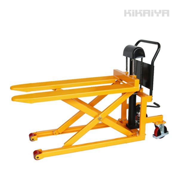 スキッドリフト500kg スクーパー リフトテーブル 油圧式運搬昇降台車 「すご楽」 6ヶ月保証(個人様は営業所止め) KIKAIYA