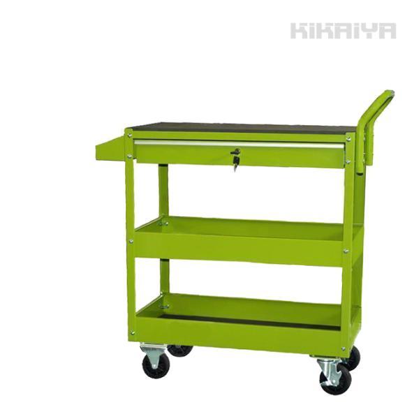 KIKAIYA サービスツールカートDX 引出し付 スプレー缶ドライバー兼用ホルダー付 ツールワゴン スチールワゴン |kikaiya