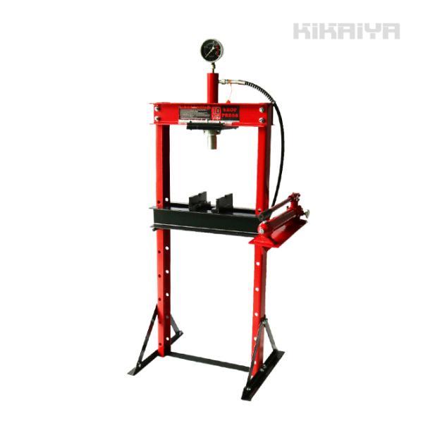 KIKAIYA 油圧プレス10トン メーター付 門型プレス機 6ヶ月保証(個人宅配達不可)|kikaiya