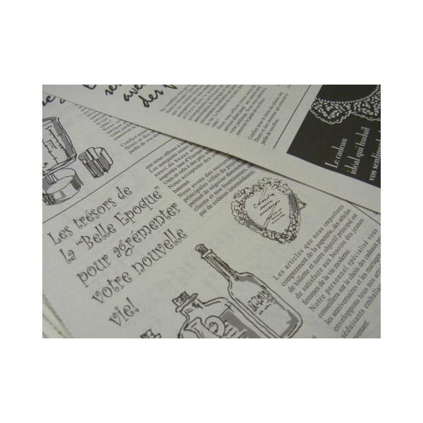 ニュースペーパージャーナル 2WR 10枚入り/ 英字新聞風包装紙・ゆうパケット発送可|kikisuu|06