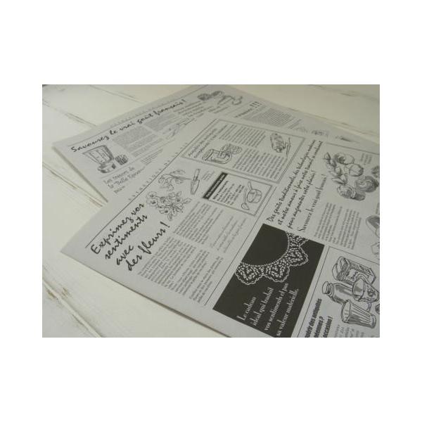 ニュースペーパージャーナル 2WR 20枚入り/ 英字新聞風包装紙・ゆうパケット発送可|kikisuu