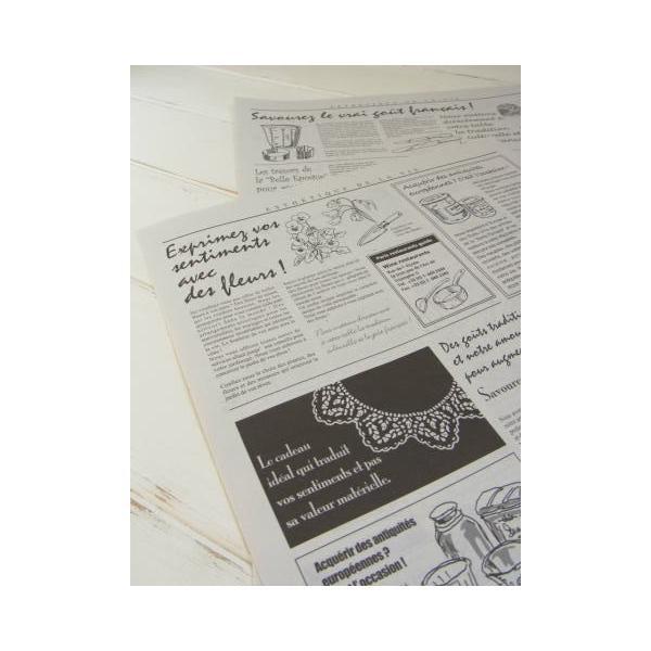 ニュースペーパージャーナル 2WR 30枚入り/ 英字新聞風包装紙・ゆうパケット発送可|kikisuu|04