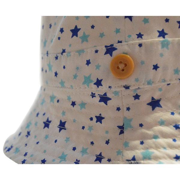 送料無料UVハット キュートな細かい星柄♪安心のあごひも付き。綿100%|kikkousisyoppu|05