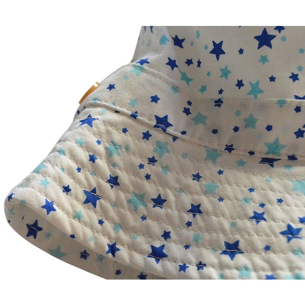 送料無料UVハット キュートな細かい星柄♪安心のあごひも付き。綿100%|kikkousisyoppu|06