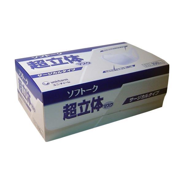 ソフトーク 超立体マスク サージカルタイプ ふつうサイズ 100枚入 kikuya174