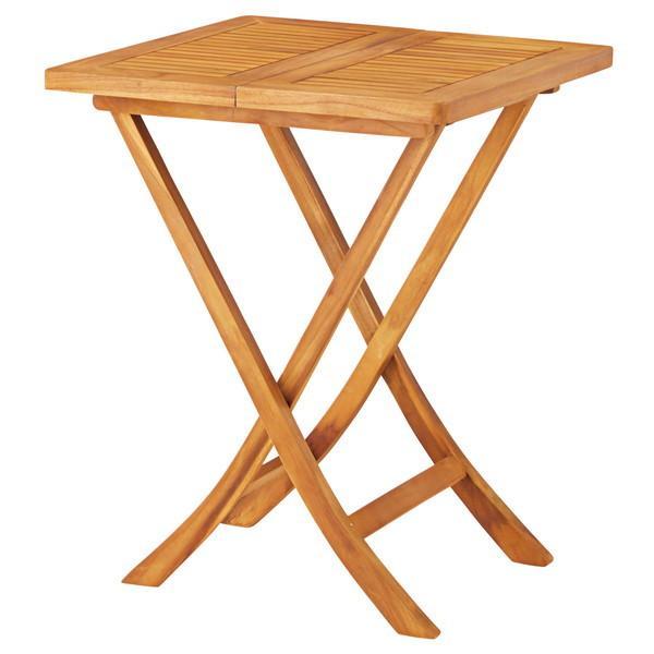 『代引不可』東谷 フォールディングテーブル W600×D600×H750mm JTI-331 [ 折りたたみ ガーデン 庭 バルコニー ベランダ ]