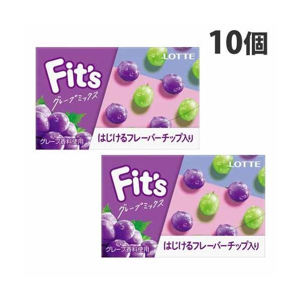 ロッテ Fit's〔グレープミックス〕12枚×10個