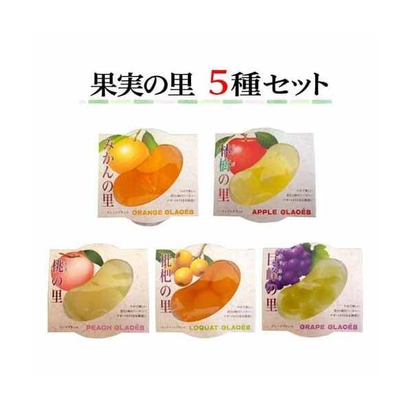 ジュポンかづの 果実の里 5種セット ゼリー ゼリー詰め合わせ ゼリーセット 食べ比べ フルーツゼリー 果実 デザート