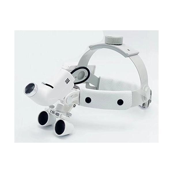 Doc.Royal LEDライト+2.5X拡大鏡 ヘッド式ライト 実験室用 デンタル用|kimakai