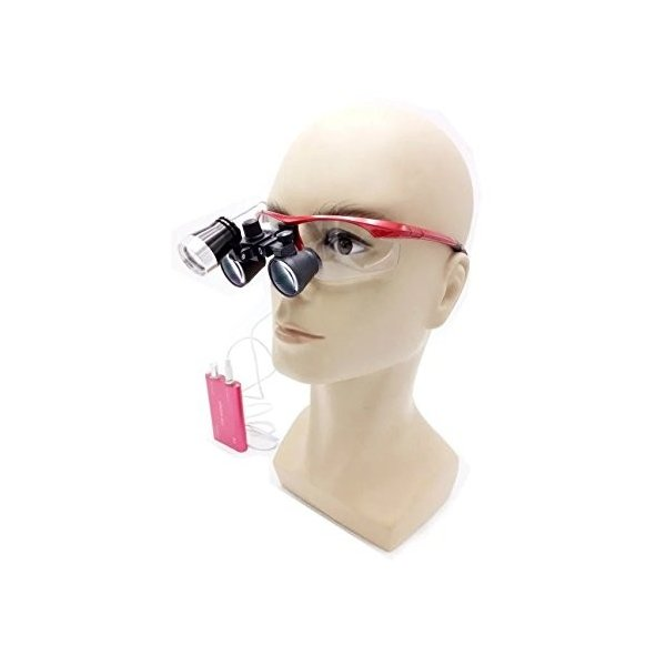 APHRODITE 双眼ルーペ 3.5X拡大鏡 ヘッドルーペ メガネ式拡大鏡 ポータブルルーペ 技工用 (レッド/白)|kimakai|05