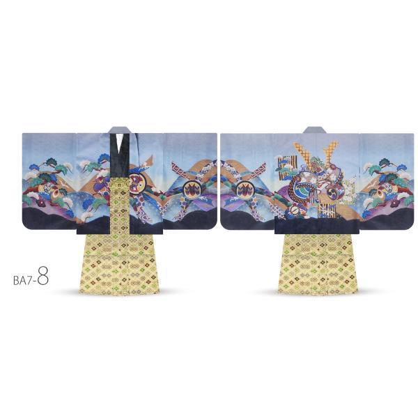 5才 男児 着物 羽織袴 アンサンブル 豪華13点セット 選べる11タイプ 七五三 お祝い 男の子 五才 着物セット|kimono-cafe|15