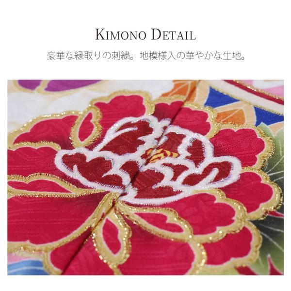 絵羽柄 四つ身 15点 フルセット 選べる8柄 古典 レトロ 7歳 七歳 女児 着物セット 七五三 お正月 ひな祭り 四ツ身 女の子 最安値に挑戦 BY8|kimono-cafe|02