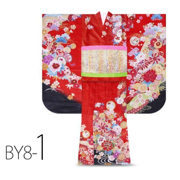 絵羽柄 四つ身 15点 フルセット 選べる8柄 古典 レトロ 7歳 七歳 女児 着物セット 七五三 お正月 ひな祭り 四ツ身 女の子 最安値に挑戦 BY8|kimono-cafe|05