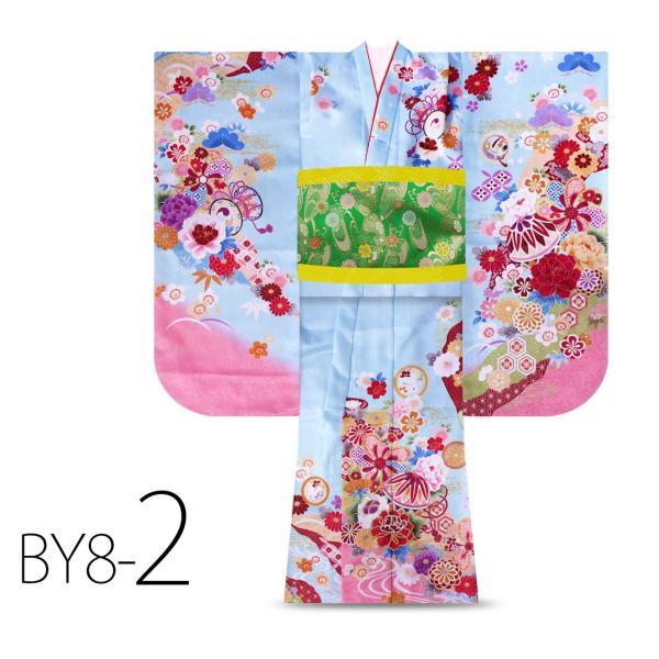 絵羽柄 四つ身 15点 フルセット 選べる8柄 古典 レトロ 7歳 七歳 女児 着物セット 七五三 お正月 ひな祭り 四ツ身 女の子 最安値に挑戦 BY8|kimono-cafe|06