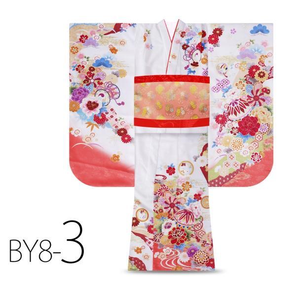 絵羽柄 四つ身 15点 フルセット 選べる8柄 古典 レトロ 7歳 七歳 女児 着物セット 七五三 お正月 ひな祭り 四ツ身 女の子 最安値に挑戦 BY8|kimono-cafe|07