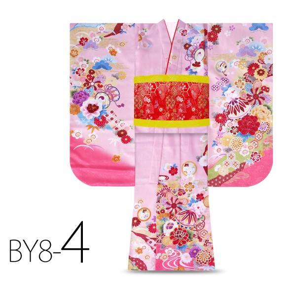 絵羽柄 四つ身 15点 フルセット 選べる8柄 古典 レトロ 7歳 七歳 女児 着物セット 七五三 お正月 ひな祭り 四ツ身 女の子 最安値に挑戦 BY8|kimono-cafe|08