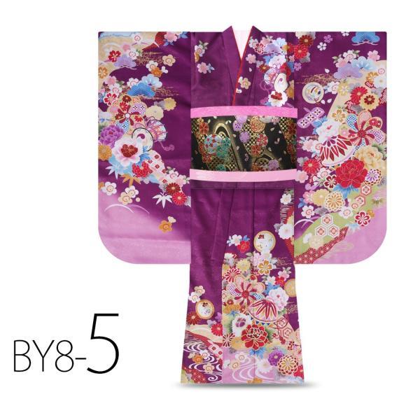 絵羽柄 四つ身 15点 フルセット 選べる8柄 古典 レトロ 7歳 七歳 女児 着物セット 七五三 お正月 ひな祭り 四ツ身 女の子 最安値に挑戦 BY8|kimono-cafe|09