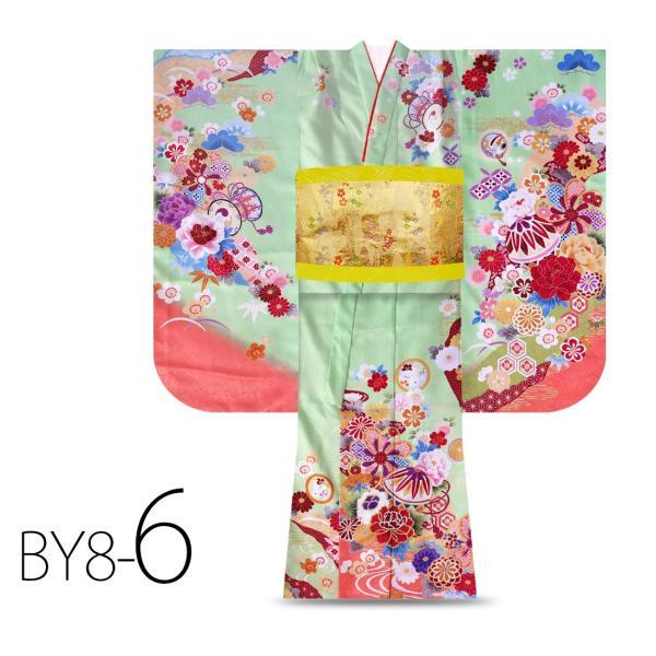 絵羽柄 四つ身 15点 フルセット 選べる8柄 古典 レトロ 7歳 七歳 女児 着物セット 七五三 お正月 ひな祭り 四ツ身 女の子 最安値に挑戦 BY8|kimono-cafe|10